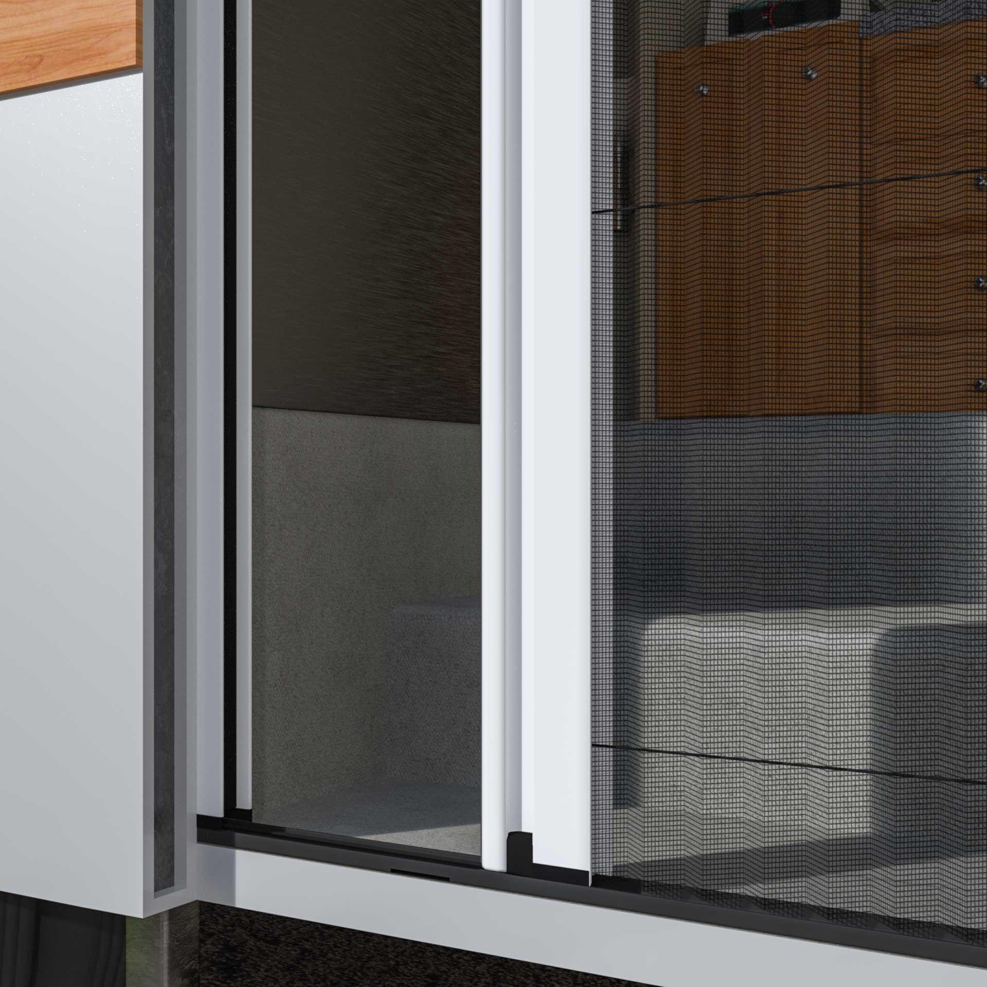 Insektenschutz-Plisseetür für Wohnmobile | ab 22mm Platz | Slimline22