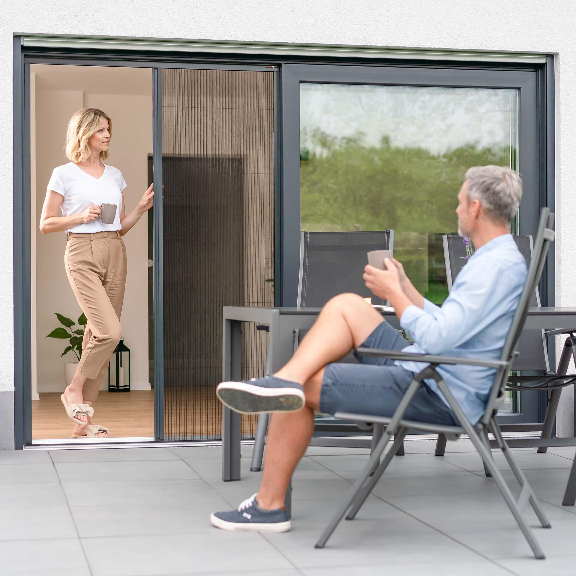 Insektenschutz-Plissee für Türen | für 18 - 22 mm Zwischenraum | Slimline18