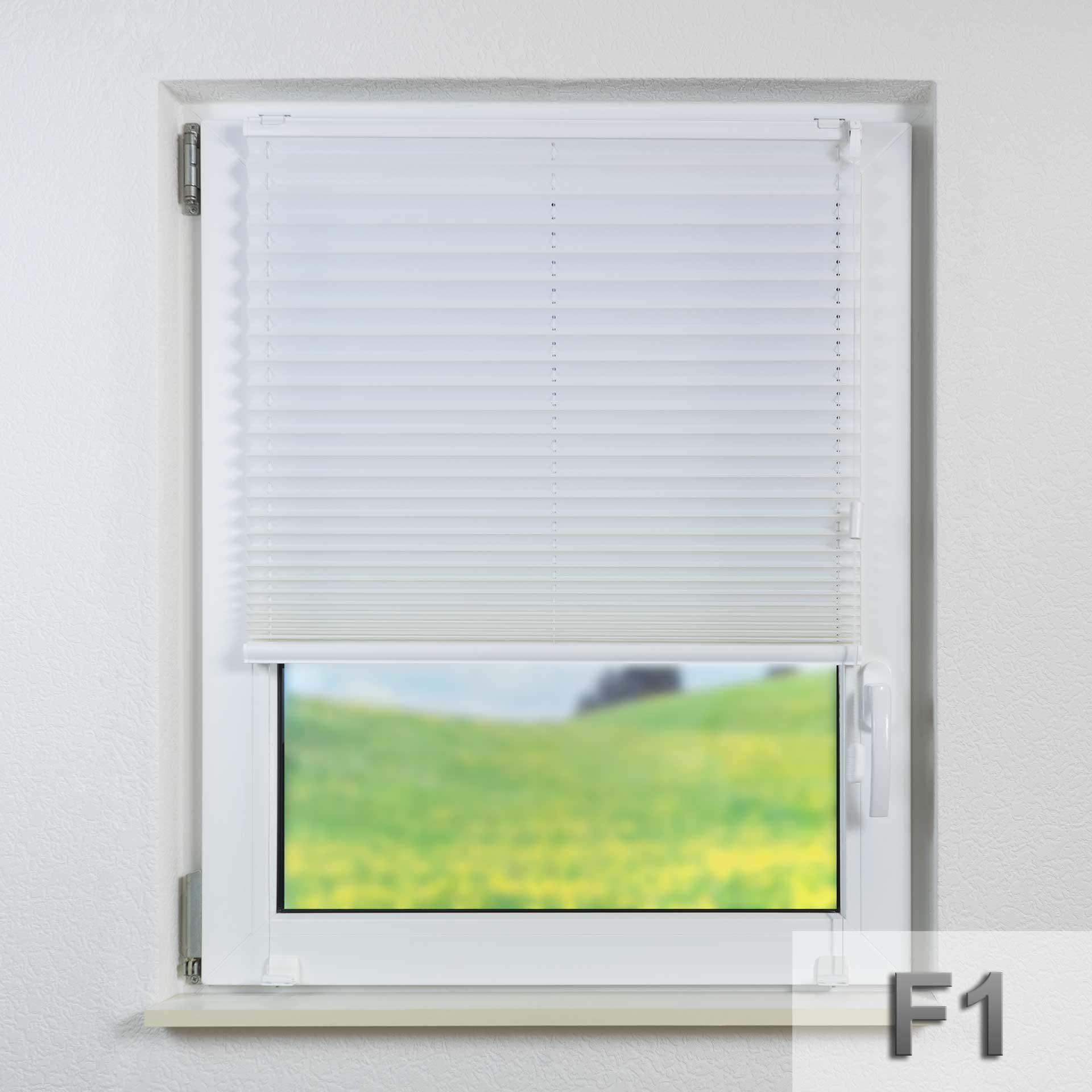 Sonnenschutz-Plissee F1 für Fenster | Fertigung auf Maß | mit Zugschnur