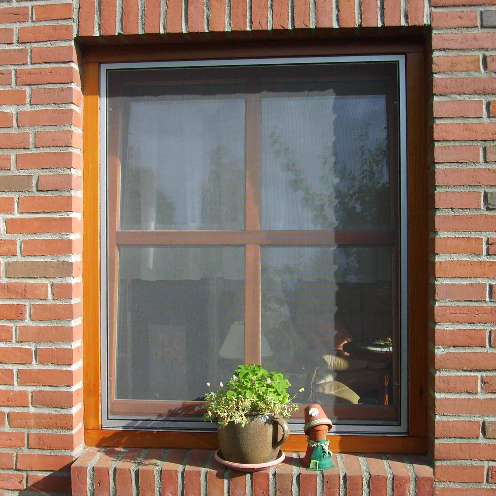 Fliegengitter für Holzfenster mit direkt angrenzendem Rollladen | Flairline