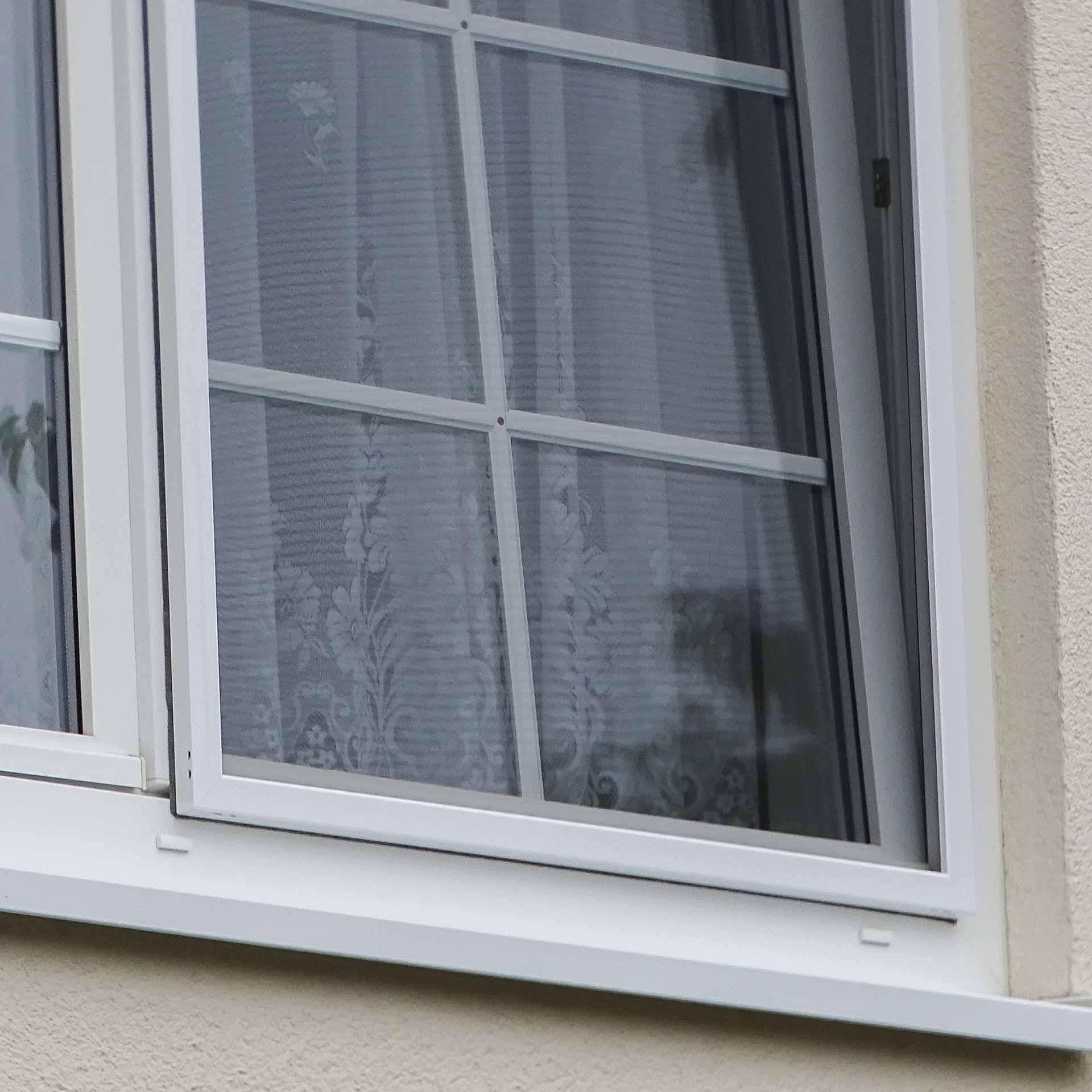 Fliegengitter-Rahmen für Fenster mit überstehendem Wetterschenkel | FlairlinePlus-WN
