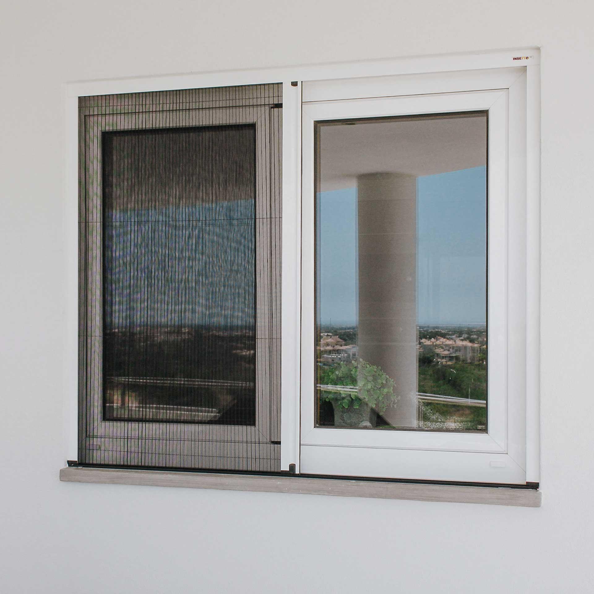 Insektenschutz-Plissee für Fenster | seitliche Bedienung | Slimline22