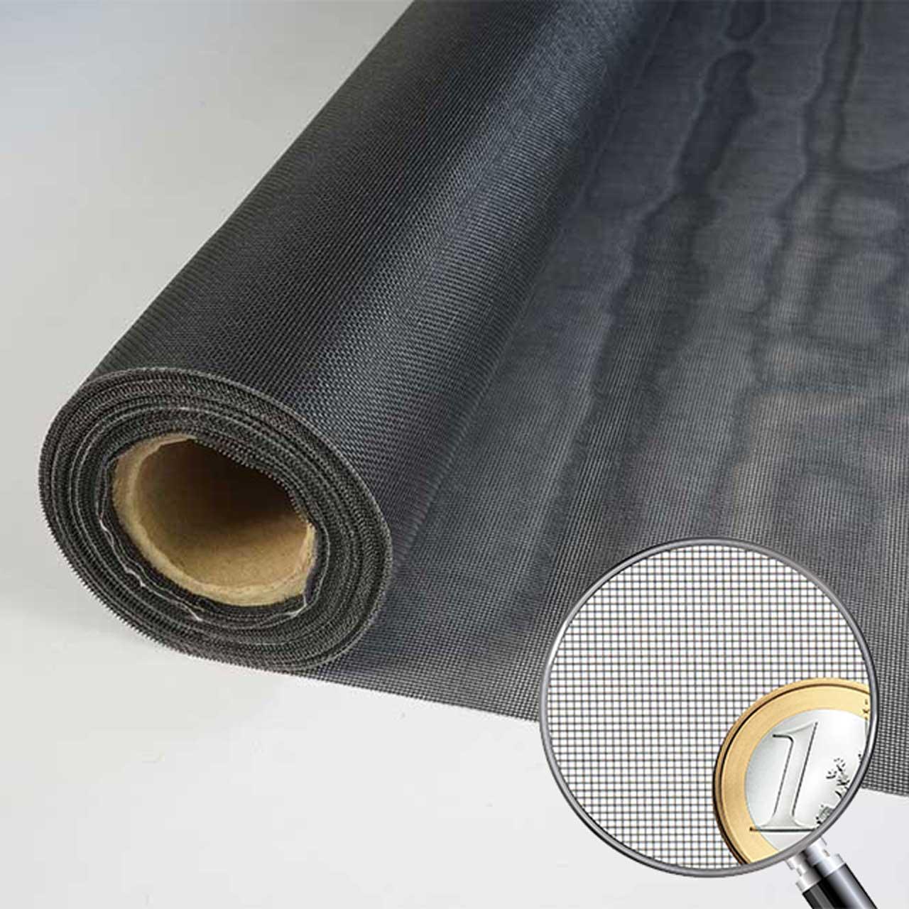 Netzmuster Fliegennetz MicroMesh schwarz