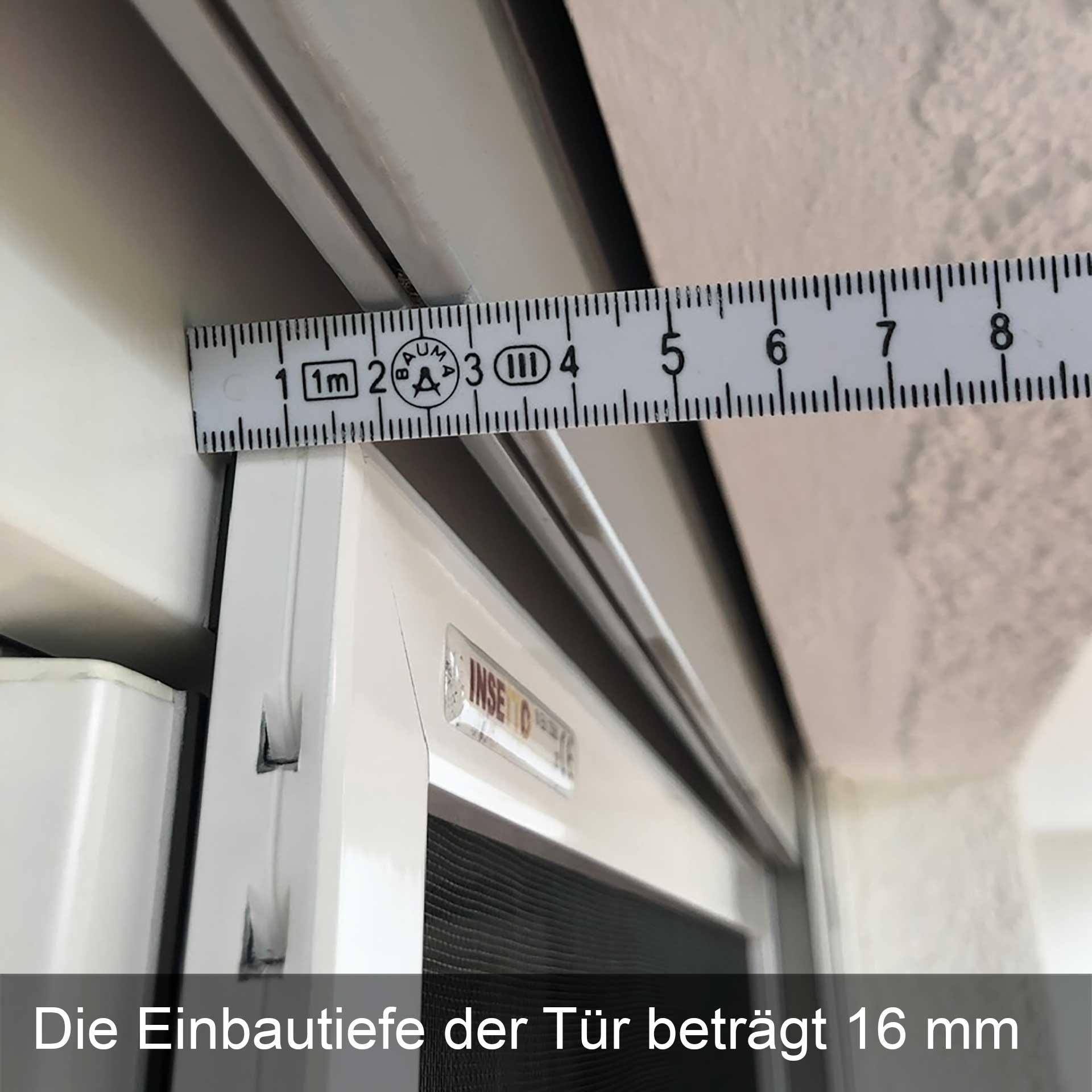 Fliegengittertür fix & fertig zur Befestigung am Tür-Rahmen   Flairline