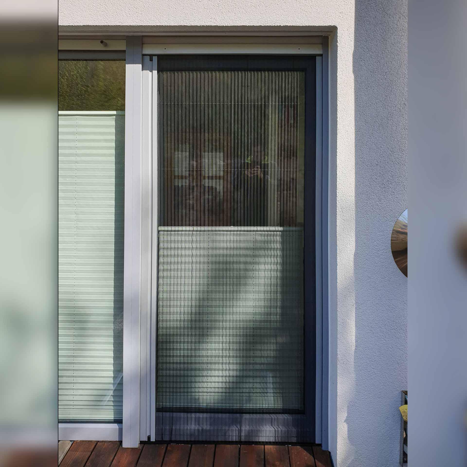 Insektenschutz-Plissee für Türen   für 18 - 22 mm Zwischenraum   Slimline18