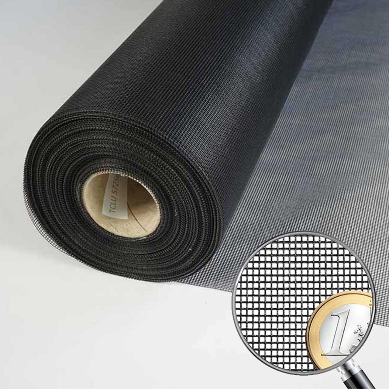 Fliegennetz schwarz 1,00 m breit