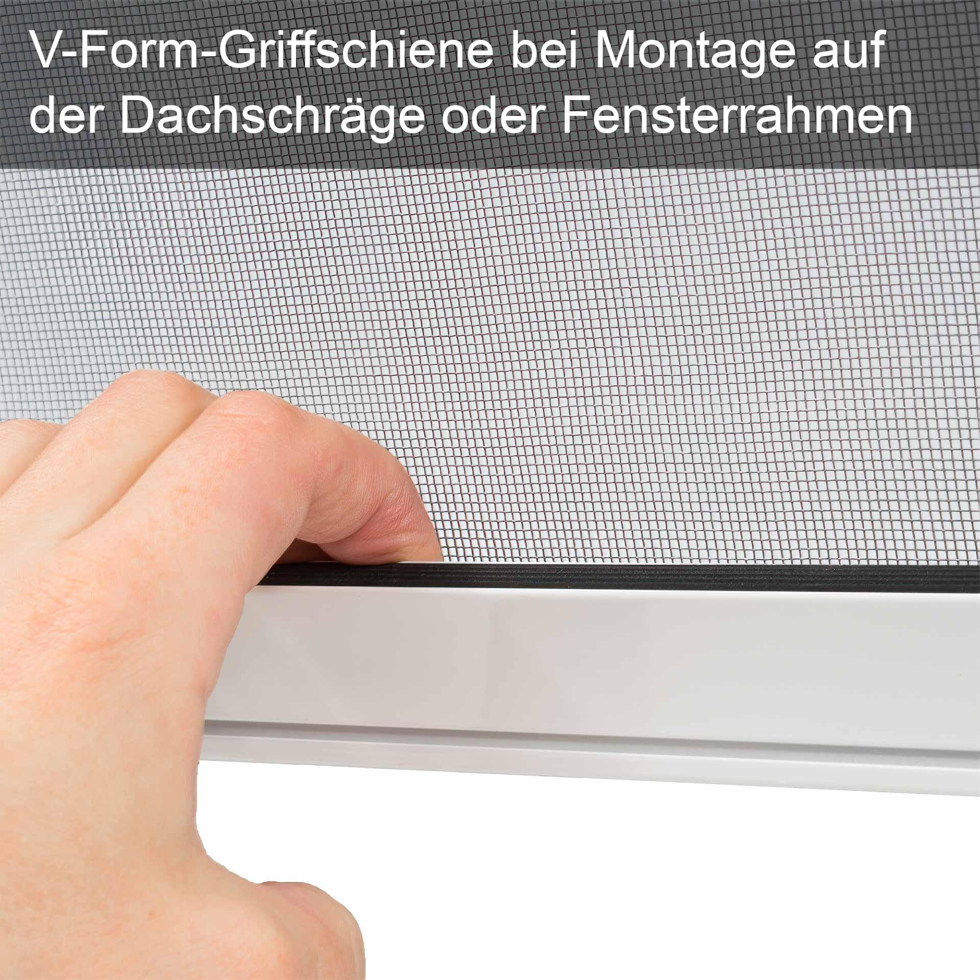 Insektenschutzrollo, auch für breite Dachfenster geeignet   Multiline