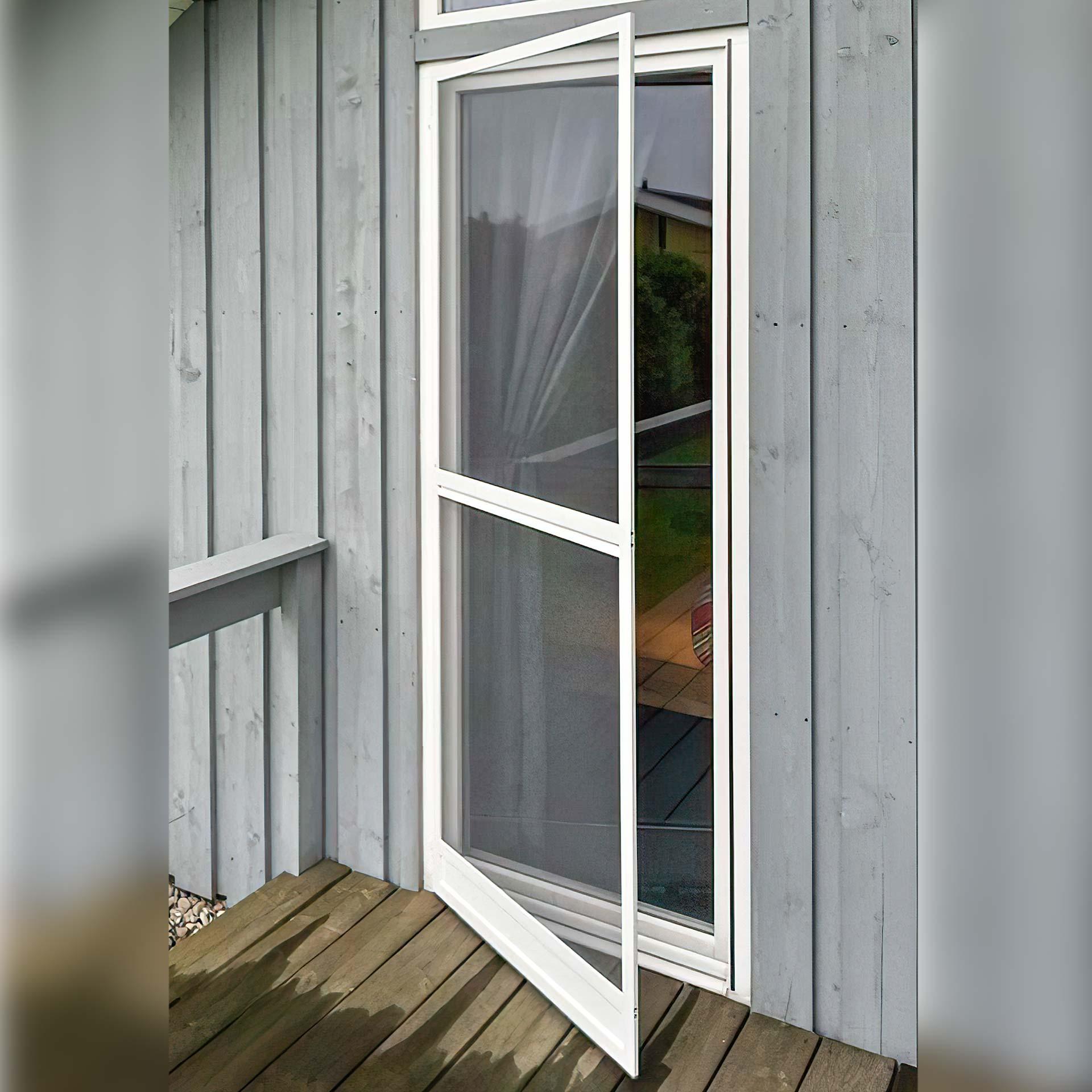 Stabiler Fliegengittertür Bausatz zur Befestigung am Tür-Rahmen | auf Maß  | Boxline