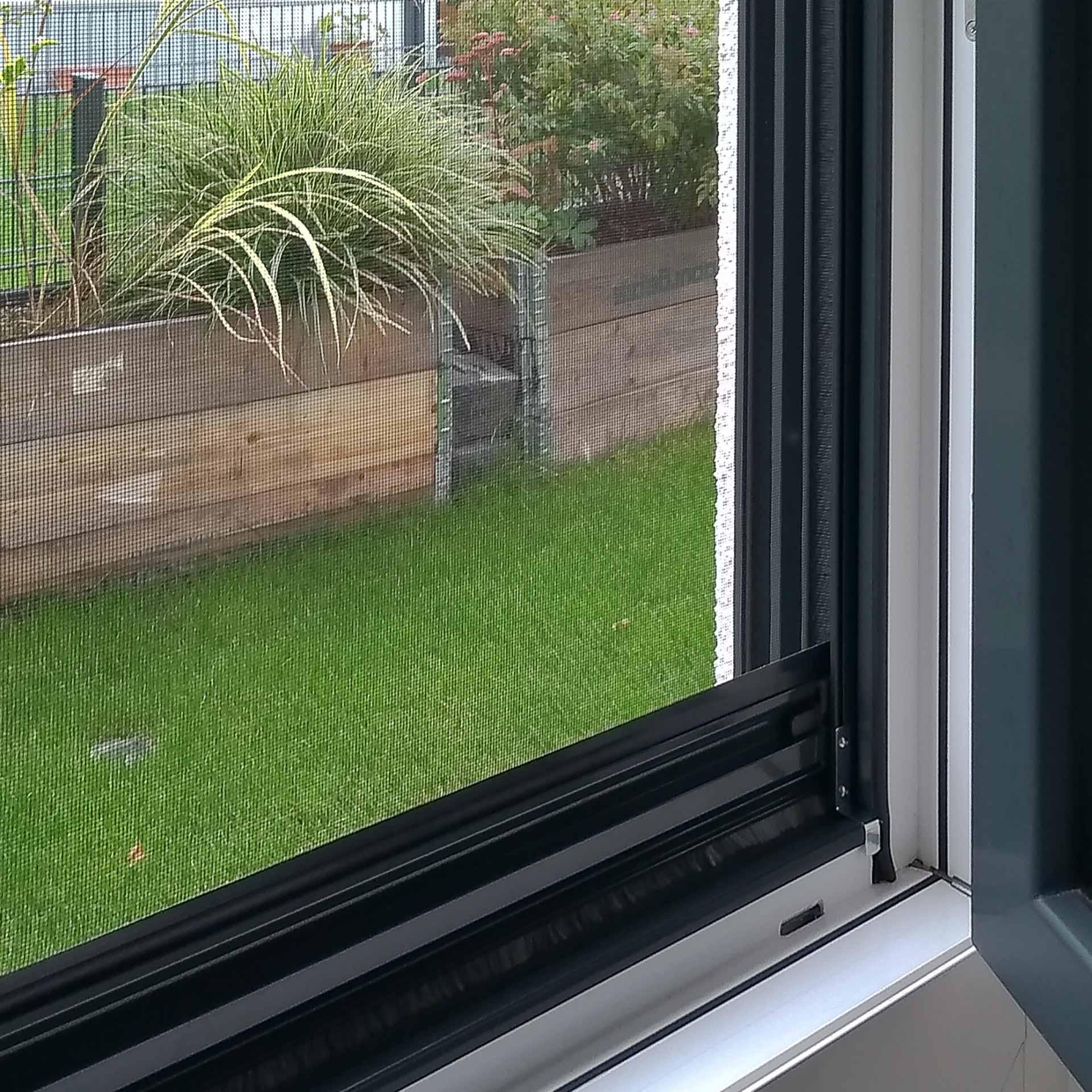 Das Insektenrollo mit der wohl schnellsten Befestigung   für Fenster   StarlineFix
